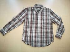 Camisa cuadros GREEN COAST marrón blanco talla 5 / XL algodón manga larga - 133