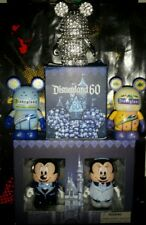 Disnyland 60th 2 pack, 60th clear crystal and monorail eachez set vinylmation