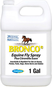 Farnam Bronco e Equine Fly Spray, with Citronella Scent, for horses, ponies and