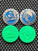 Nintendo Vintage Super Mario World Chips Coin Shiny Plain Menko LOT4 Rare Promo