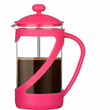 Pink Kenya 4 Cup Glass Cafetiere Coffee Heat Resistant 600ml Modern Cups New