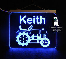 Tractor Sign, Night Light, Color Changing Acrylic LED Sign