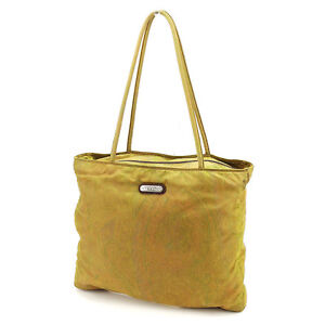 Etro Tote bag Paisley Green Brown Woman unisex Authentic Used A1631