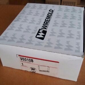 Wiremold Legrand V6010B Combination End Fitting, Blank End Ivory NEW