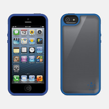 Belkin Grip Max Shell Case Cover iPhone 5 5S SE Gray/Blue Brand New OEM