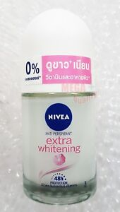 NIVEA EXTRA WHITENING DEODORANT ROLL ON FOR PLUCKING TIGHTENS PORES 48 HR. 25 ml