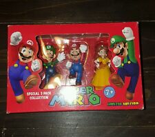 Super Mario - Mini Figures Super 3 Pack Collection - daisy, mario, Luigi  NEW