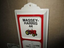 MASSEY-HARRIS - Model 44 - Pictures OLD TRACTOR -Thermometer SIGN - Made In USA