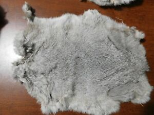 NICE TANNED RABBIT FUR PELT -------- SOFT AND READY FOR USE (46)