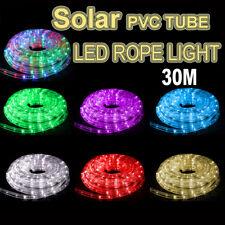 Solar 30M LED Rope Lights PVC Hard Tube Party Christmas Light Wedding LED Xmas