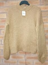 Urban Outfitters Brown knitted Fisherman Jumper Small RRP £46