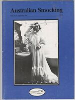Australian Smocking - Issue No 06 - September 1988 - Extremely Rare