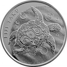 2011 New Zealand $2 Fiji Taku Coins 1 oz Silver.999 fine silver (BU, Lot of 2)