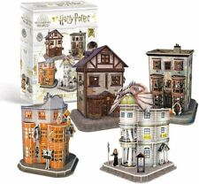 Harry Potter DIAGON ALLEY 4 in 1 3D Jigsaw PUZZLE SET 273 pieces