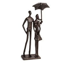 Danya B Loving Couple Under Umbrella Bronze Sculpture - ZD15613