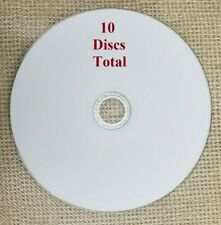 10 Ridata 4X Blu-Ray BD-R 25GB White Inkjet Hub Printable Disc Media, No Package