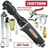 """Craftsman 3/8"""" Drive Air Ratchet Wrench 45 ft lbs w 10 pc Air Tool Accessory Set"""