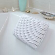 LUXURY WHITE RELAXING SPONGY CUSHIONED BATH SPA PILLOW HEAD NECK REST BATHROOM