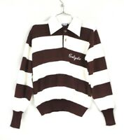 Vintage  Dehen Colgate Rugby sweater Mens M 80s maroon and White striped