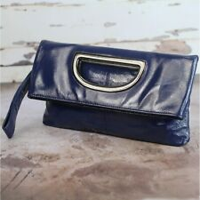 Hobo International BLISS Convertible Wristlet Clutch Patent Leather Navy Blue