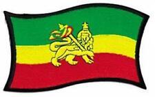 More details for zum aufbügeln / aufnäher - rasta flagge - jumbo gewebter jamaika selassie africa