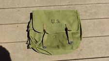 Original WWII US M1936 Musette Bag Dated 1942 Langdon Tent Awning Nice