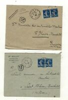 FRANCE .1900-1909   five registered covers to Switzerland. SEE PICTURES