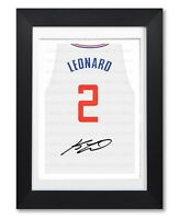 KAWHI LEONARD LA CLIPPERS SIGNED POSTER PRINT PHOTO AUTOGRAPH JERSEY SHIRT GIFT