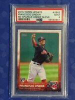 Francisco Lindor 2015 Topps Update RC #US82 PSA 9 Mint Cleveland Indians
