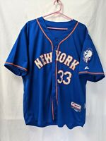 NEW YORK METS MATT HARVEY #33 Authentic BLUE MLB Size 52 Baseball JERSEY
