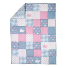Pink and Blue Handmade Baby Quilt For Nursery Toddler Warm Soft Bedding Blanket