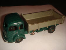 DINKY TOYS : CAMION BENNE LISSE SIMCA CARGO VERT ET GRIS REF 33