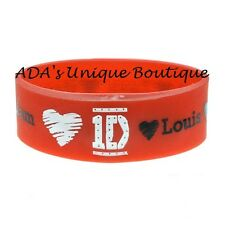 One Direction 1D Names Blingkers Light-Up Red Rubber Bracelet New with Tags