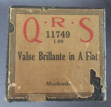 """Q R S Player Piano Roll """"Valse Brillante in A Flat"""" by Moszkowski"""