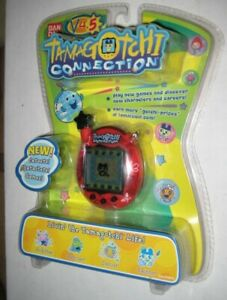 MISP! Rare 2007 Bandai TAMAGOTCHI Connection v4.5 RED BUTTERFLIES & LADYBUGS HTF