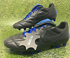 Nike Premier II FG Kangaroo Leather Men Soccer Cleats Black/Blue SZ (917803-040)