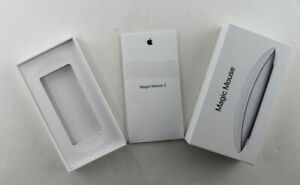Apple Magic Mouse 2 Empty Box Only includes Booklets Model A1657 MLA02LL/A White