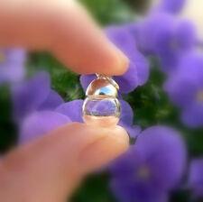 5 glass MINI GLOBE vial pendants w/ button cap (mini/ bottles/ ornaments)