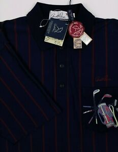 Arnold Palmer Golf Polo Shirt Size 52 US L Navy Blue 100% Cotton Clubs Bags New