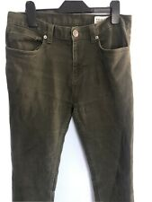 Mens Green Army Style Skinny Jeans W30/L30 Denim Co Combat Military Trousers
