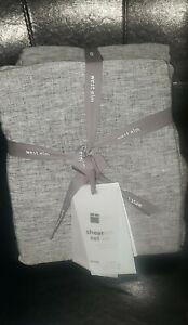 West Elm Belgian Flax Linen Melange King Sheet Set - Brand New!