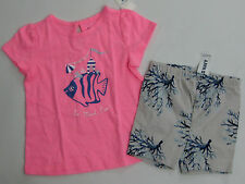 NWT Baby Gap Girls 18-24 Months Boardwalk Fish Top & Old Navy Reef Knit Shorts