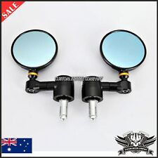"3"" CNC Imola Style Black Side Bar End Mirrors Triumph SPEED TRIPLE 1050 ROCKET"