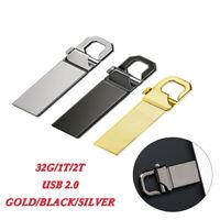 2TB Metal USB 2.0 Flash Drive Memory Stick Pen PC Laptop U Disk Swivel Key Thumb