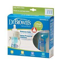 NEW Dr Browns Original Natural Flow 3 Wide Neck Bottle Newborn 240ml Dr Brown