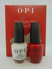 Opi Big Apple Red & Alpine Snow (White) Lacquer/Polish Nail Art Kit-New Full Sz