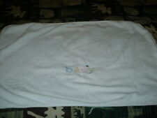 """Baby blanket, white and soft, Carter's, 30""""x40"""""""