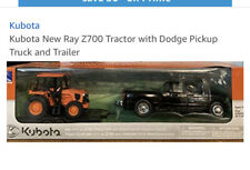 Kubota Dodge 3500 Pickup Truck with Trailer M5-111 Tractor Set Toy Diecast  New