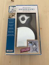 Fm Shower Radio Auto Scan Hanger For Shower Head Vanity Mirror New