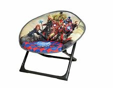 Disney Folding Moon Chair Avengers, Soft Padded Chair for Baby Toddlers Kids